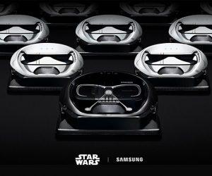 Θέλεις σκούπα εμπνευσμένη από το σύμπαν του Star Wars; Οι Samsung Powerbot Star Wars Darth Vader και Stormtrooper έρχονται!