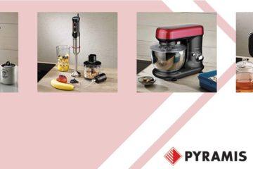 Οι μικροσυσκευές Pyramis διαθέτουν εξαιρετική ποιότητα και μοντέρνο design, και ήρθαν να προστεθούν στην μεγάλη οικιακή γκάμα της εταιρίας.