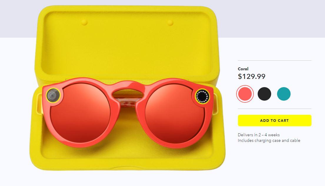Snapchat Spectacles - Διαθέσιμο σε 3 χρώματα και με θήκη φόρτισης