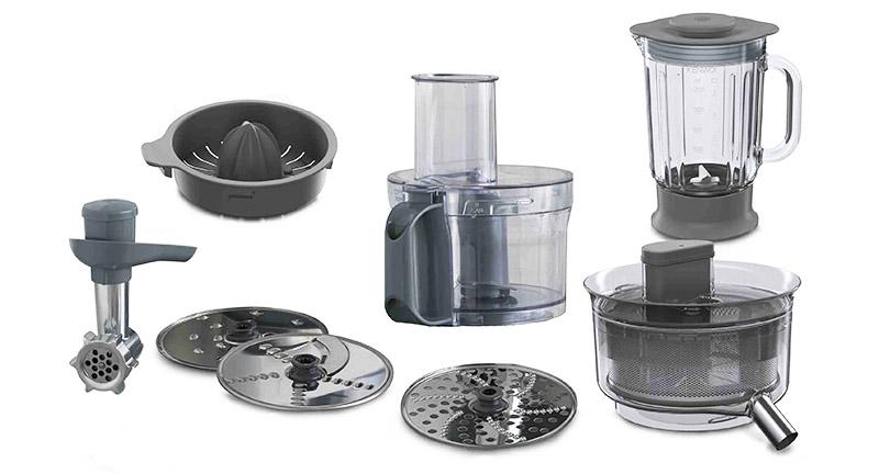 Επιπλέον εξαρτήματα που μπορεί να δεχθεί μια κουζινομηχανή