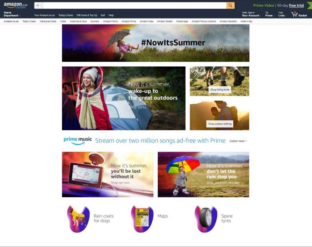 Η Amazon λανσάρει το Nowitssummer με προτάσεις προϊόντων βάση του καιρού! Η νέα υπηρεσία του βρετανικού Amazon προτείνει στους χρήστες προϊόντα βάση των μετεωρολογικών συνθηκών που επικρατούν στην περιοχή τους.