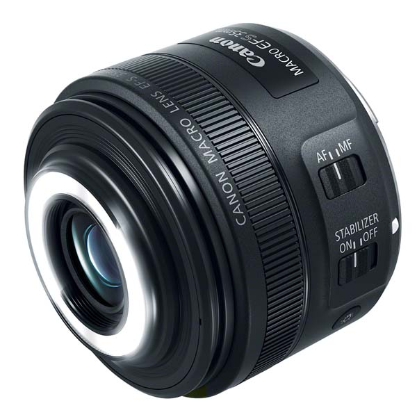 Ο Canon EF-S 35mm f/2.8 Macro IS STM με τον LED φωτισμό