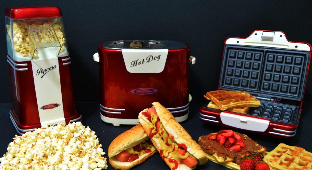 Ariete Party Time - Μηχανή pop corn, βαφλιέρα και φρυγανιέρα hot dog