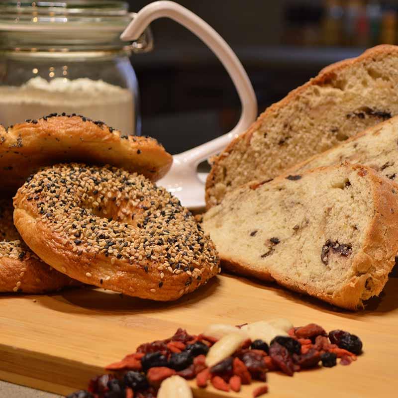 Kitchenaid Artisan 150 - Bagels και ελιόψωμο με τυρί