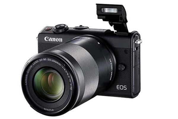 Η Canon EOS M100 με φακό 55-200mm