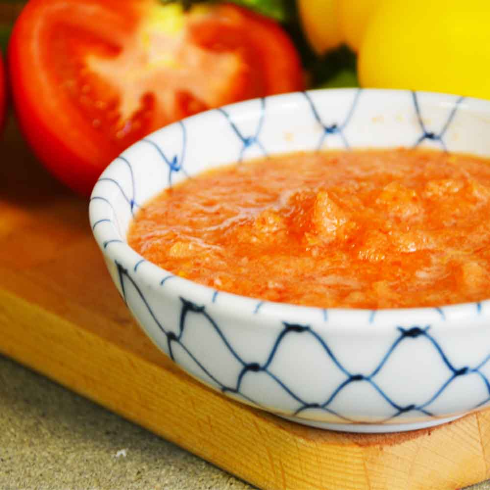 Izzy Multi+ 600: Σάλτσα ντομάτας με κρεμμύδι και πιπεριά