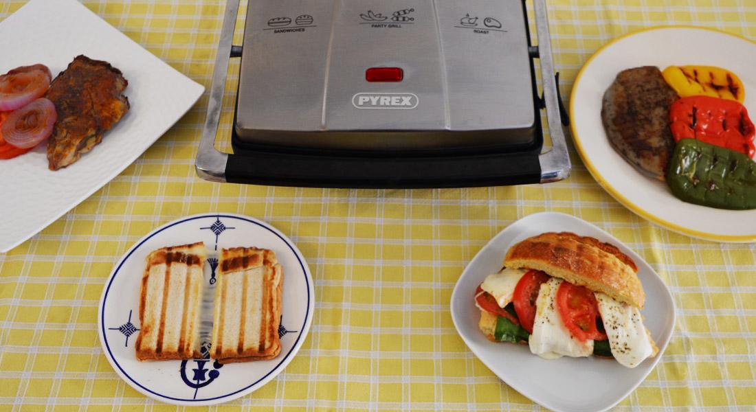 Μια συσκευή που ψήνει από τοστ και σάντουιτς μέχρι μπριζόλες και μπιφτέκια; Αυτή είναι η Pyrex SB-240
