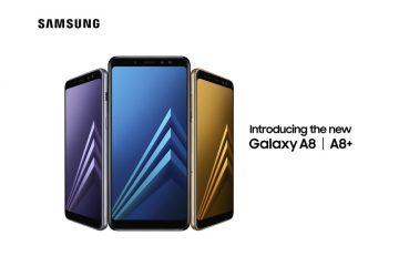 Το Galaxy A8 διαθέτει διπλή μπροστινή κάμερα, μεγάλη οθόνη χωρίς όρια (Infinity) και εντυπωσιακό εργονομικό σχεδιασμό που αντλεί στοιχεία από την κληρονομιά και την εμπειρία της ναυαρχίδας τηςSamsung