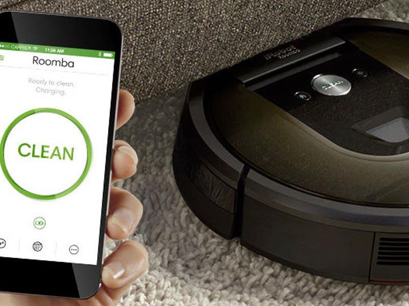 Το app μιας σκούπας ρομπότ για απομακρυσμένη χρήση