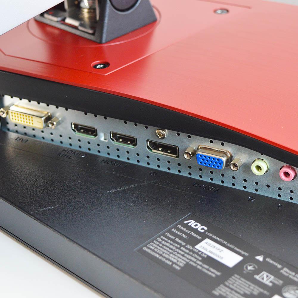 AOC AGON AGFZ Review - Θύρες Συνδεσιμότητας