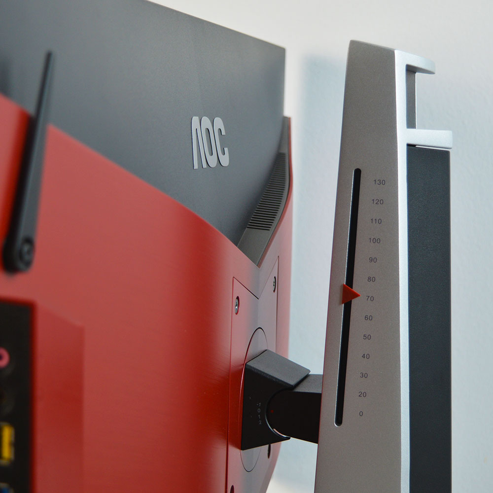AOC AGON AGFZ Review - Κλίμακα ύψους και κλίσης