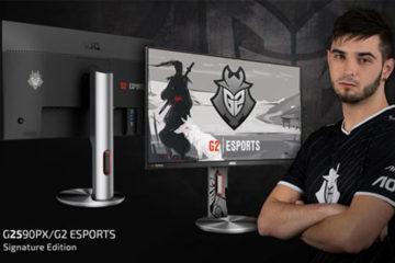 Η AOC, παγκόσμιος ηγέτης στην αγορά των gaming οθονών, ανακοινώνει επίσημα την πρώτη οθόνη με την υπογραφή της ομάδας G2 Esports – την AOC G2590PX/G2.