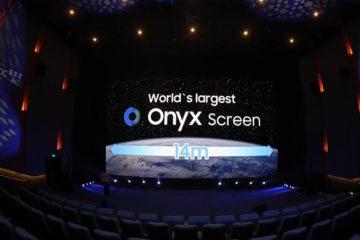 Η Onyx Cinema LED της Samsung, με 14m πλάτος, 4K ανάλυση και μέγιστο επίπεδο φωτεινότητας στα 88fL, 6 φορές μεγαλύτερη από τις τυπικές τεχνολογίες projector