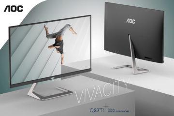 AOC Q27T1: Όταν ένας αξιόλογος σχεδιασμός συναντά την κορυφαία εμπειρία προβολής. Σχεδιασμένη από το Studio F. A. Porsche.
